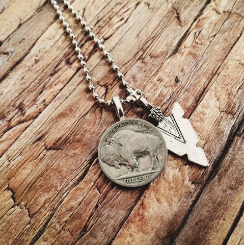 Buffalo Nickel Necklace - Lord and Lady