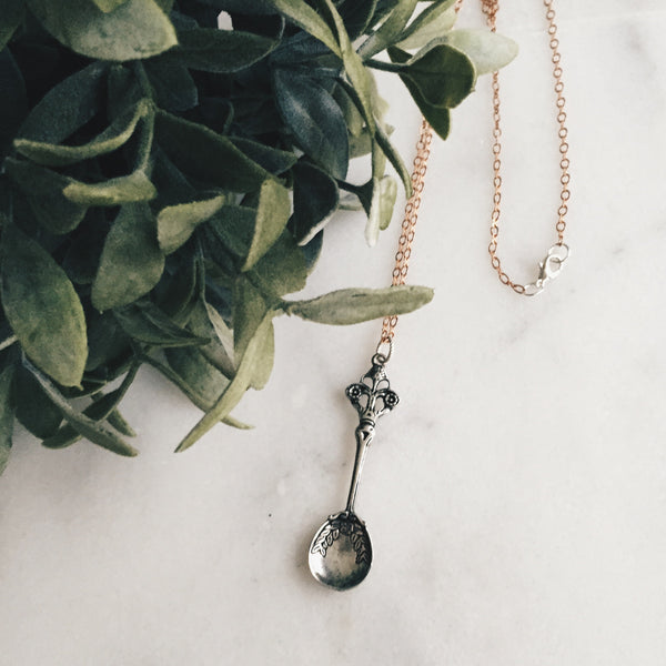 Silver Spoon Necklace - Lord and Lady