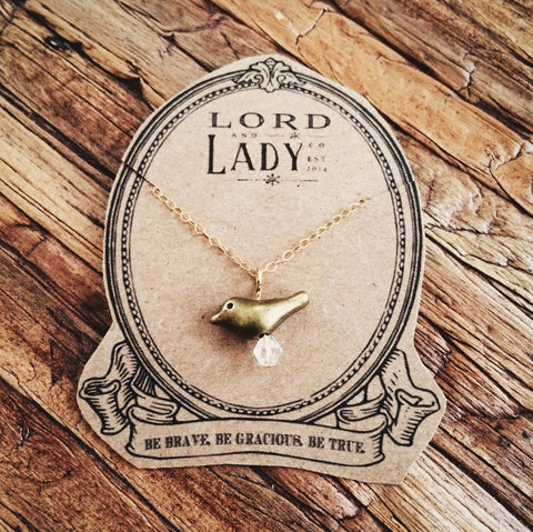 Little Sparrow Necklace - Lord and Lady
