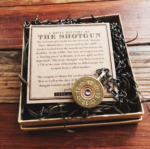 Shotgun Shell Necklace - Lord and Lady