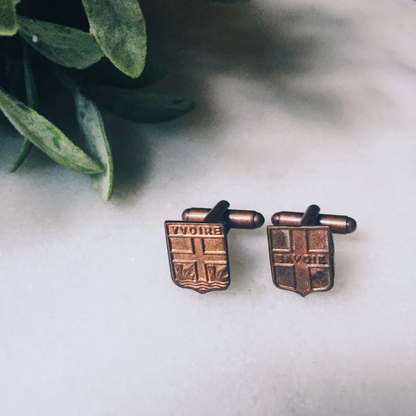Yvoire - Vintage French Medal Cuff Links (One of a Kind)