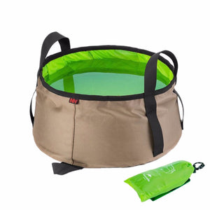 10L Portable Outdoor Round Folding Water Camping Picnic Wash Bucket Bag Ultralight Wash Basin