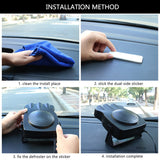 150W 12V Car Heater Fan Defroster Dashboard Cigarette Socket Quickly Heated within one minute Durable and Portable