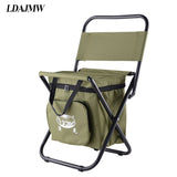 Hot Multifunctional  Backrest Chair Ice bag Thermos bag Fishing Stool Outdoor leisure Chair Travel Storage Cooler bag