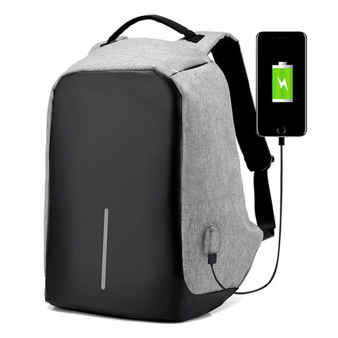 Water Repellent  Anti Theft hidden pocket Backpack Reversible with USB Charging Port for Laptops