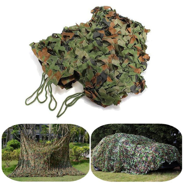 10x7 foot  Camouflage net Army Woodland Netting Extra Large!