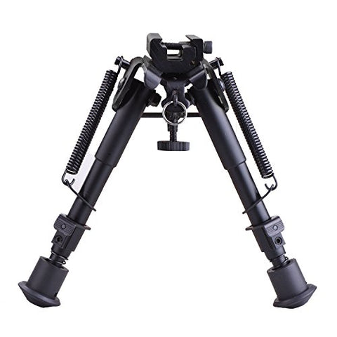 6-9 Inches Tactical Rifle Bipod Adjustable Spring Return with Adapter