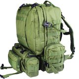 4 pc Digital Camo 600D Bug Out Bag Survival Tactical Military Pack