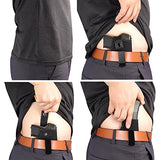 Inside The Waistband Holster | Gun Concealed Carry IWB Holster | Fits S&W M&P Shield/GLOCK 26 27 29 30 33 42 43/Springfield XD XDS/Ruger LC9 & All Similar Handguns
