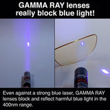 GAMMA RAY 007 Harmful Blue Light Eye Strain Protection Video Gaming Glasses with Minimal Color Distortion Anti Screen Glare, UV400 for Digital Screens