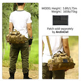 Military Surplus Style Assault Gear Sling Pack Range Bag Hiking Fanny Pack Waist Bag Heavy Duty Shoulder Backpack EDC Camera Bags MOLLE Compact Utility