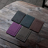 Slim Minimalist Front Pocket RFID Blocking Leather Wallets