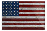 Distressed American Flag (12x18 Aluminum Wall Sign, Wall Decor Ready to Hang)