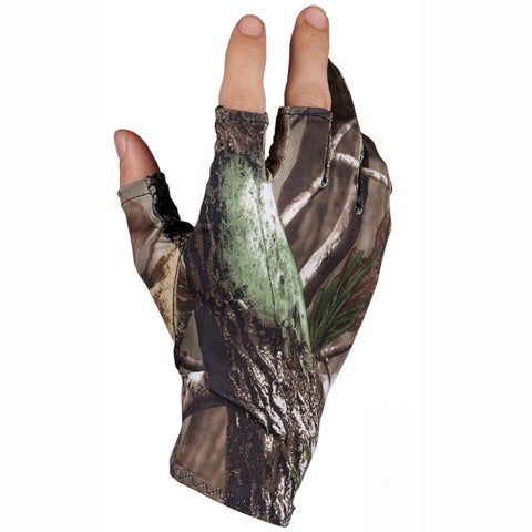 Camo  Gloves Hunting Gloves Anti-Slip 3 Finger Cut Protector Camouflage