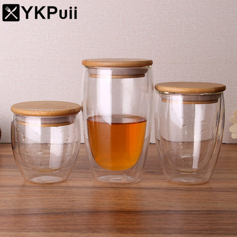 double glass cup coffee mugs tea cup transparent heat resistant