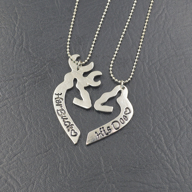 Buck & Doe Couple Necklace