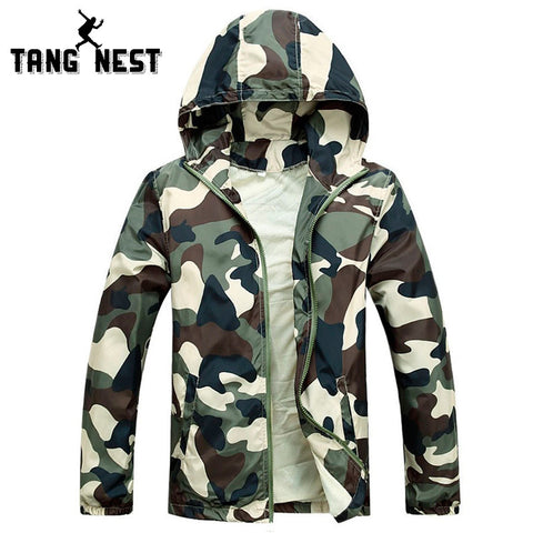 Mens Camouflage Jacket LIght Weight Hooded