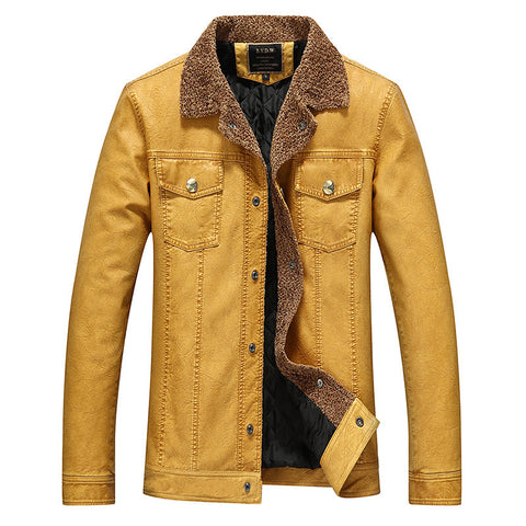 Mens leather jacket casual rider style