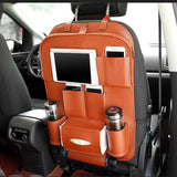 Folding Tray PU Leather Car Seat Back Folding Portable Storage Table Multi-Use Car Organizer Car Portable Tissue Storage Bags Auto Organizador