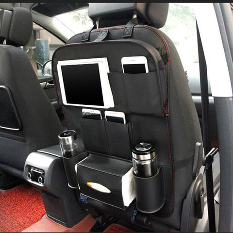 Folding Tray Pu Leather Car Seat Back Folding Portable