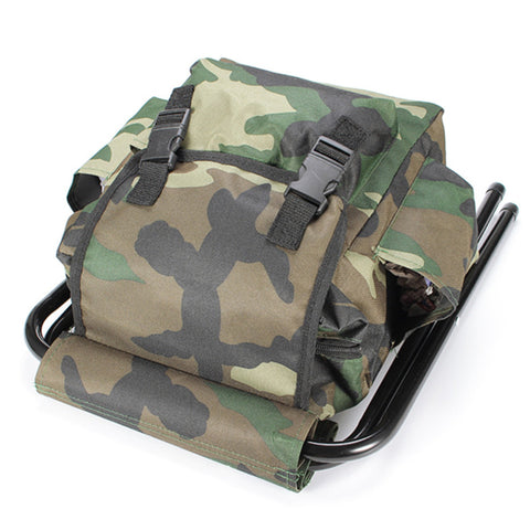 ... Fishing Chair Backpack Camouflage Oxford Cloth Large Capacity Fishing  Bag Portable Foldable Stool Fishing Tackle Chair