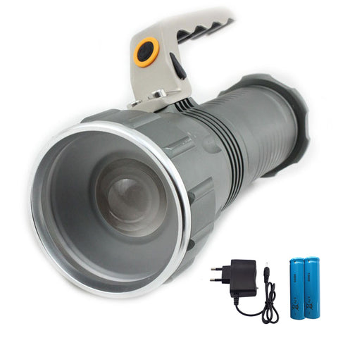 Long Range Searchlight Flashlight Led Flashlight  T6 Rechargeable Powerful Flash Search Light Torch +18650 Battery +Charger