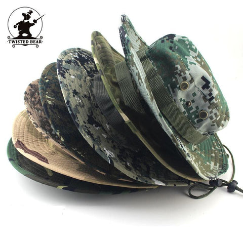 MULTICAM HAT ARMY BOONIE HAT military camouflage bucket hats hunting hiking fishing climbing camping