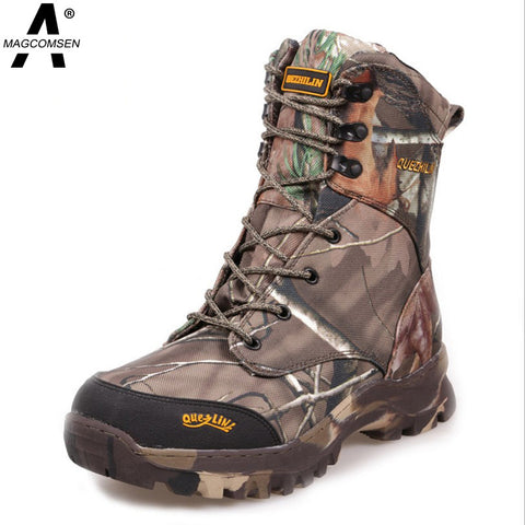 Men Military Boots Tactical Winter Hunting Outfit Desert Boots Camouflage Insulated