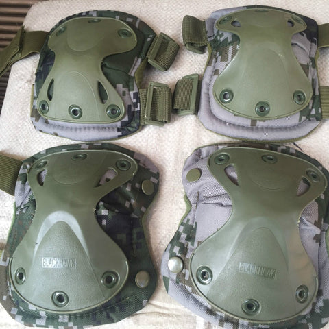 Military Tactical Protective Knee Pad Elbow Pads Airsoft Paintball Combat1 Set includes 4 pads 1 Set Knee Pads and 1 set Elbow Pads!