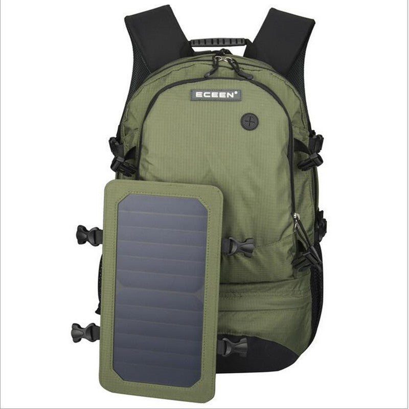 Multifunction 35L mountaineering bags 6.5W Outdoor Solar Backpack Solar Charger Back Pack Removable Solar Panel for Cell Phones