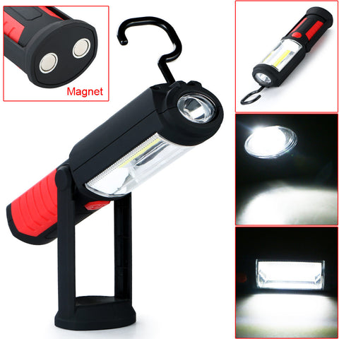 New Arrival COB LED Work Light Inspection Lamp Flashlight Torch Magnetic Hook Hand Tool Garage Outdoors Camping Sport Home