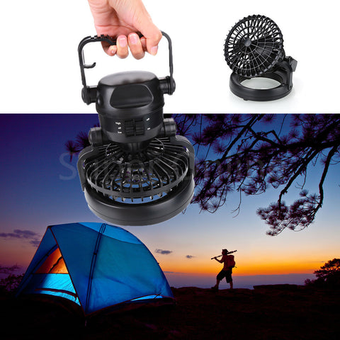 Night Light Outdoor Camping Tent Hiking 2-in-1 Super 18 LED Flashlight With Ceiling Fan Hanging Hook