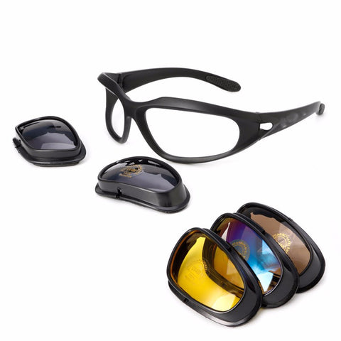Polarized Foam Padded Motorcycle Sunglasses