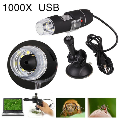 Portable USB Microscope Light Electric Handheld Microscopes Suction Tool 1000X 8 LED Digital Endoscope Camera Microscopic