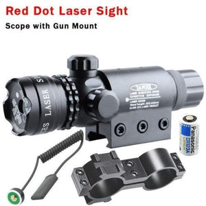 Red Dot Laser Sight Scope Tactical Remote Rifle Scope Sight Pressure Switch Rail Mount Light Gun Rifle Hunting Scope Torch lamp