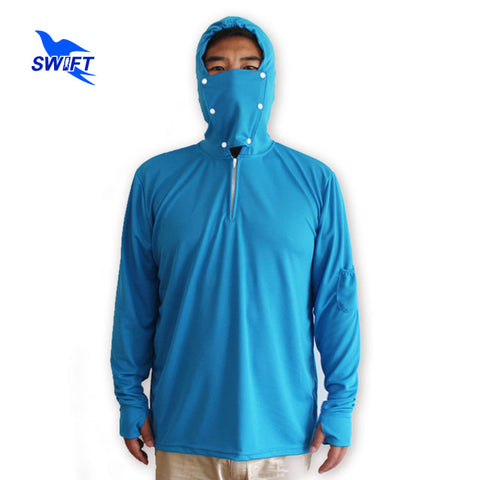 Removable Face Mask Anti-UV Breathable Sun Protection Quick Drying Long Sleeve Fishing Jacket