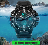 Mens G Style Waterproof LED Sports Military Watch