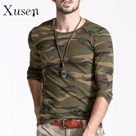 New Mens Printed Camouflage  Camo Cotton Shirt Long Sleeve