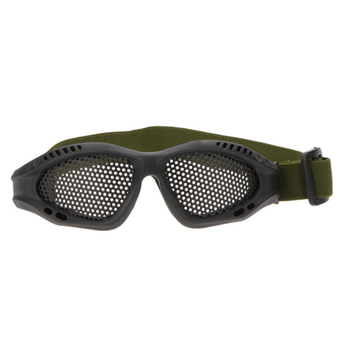 Tactical Hunting Airsoft Eyes Anti-fog Protection Metal Mesh Glasses