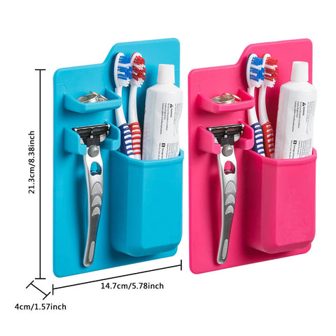 ... Toothbrush Holder Suction Wall Bathroom Silicone Toothpaste Storage  Holder Razor Storage Holder Organizer Tools ...