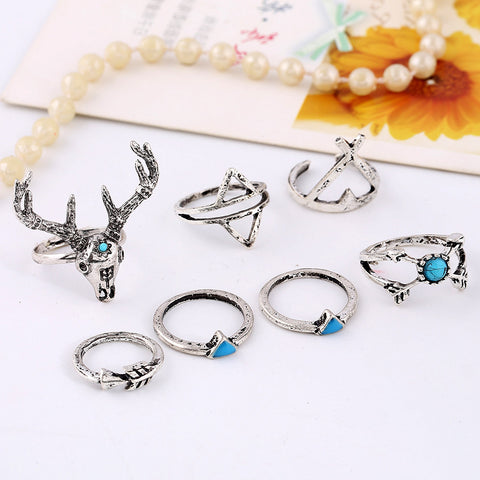 Deer 6 pcs Ring set