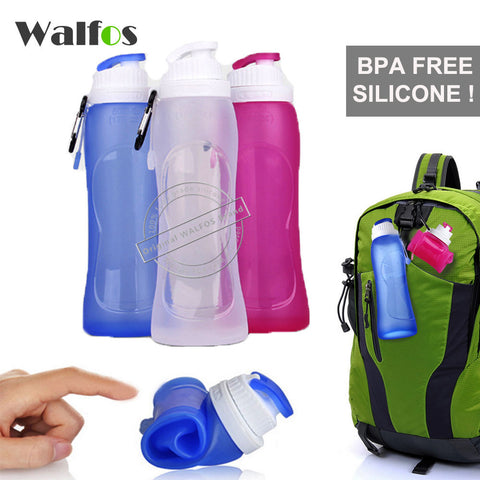500ML Collapsible Foldable Silicone Sports Water Bottle