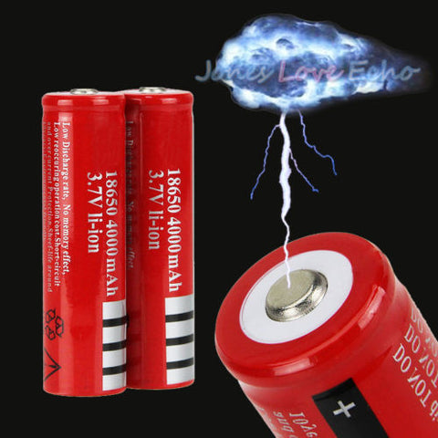 2X 18650 3.7v 4200mAH Rechargeable Li-ion Battery