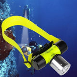 1500Lm CREE T6 LED Waterproof Diving Head light Lamp