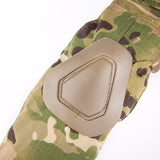 Military Camouflage Combat Style Shirt with Elbow Pads