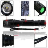 2500LM Tactical XML T6 LED Light Flashlight Torch+2X 18650 Battery+Charger