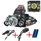 5000 LM 3x T6 LED Headlamp Head Light Flashlight