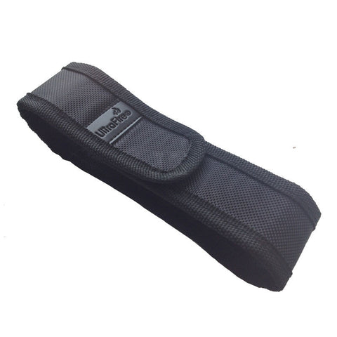 18cm Black Nylon Holster Holder Belt Velcro Pouch Case for LED Flashlight Torch