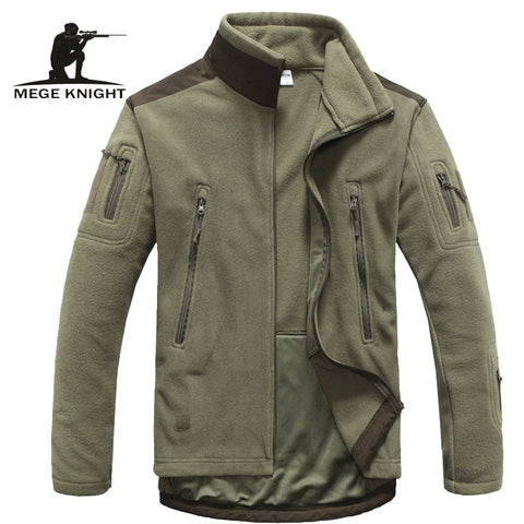 Winter fleece army style jacket softshell