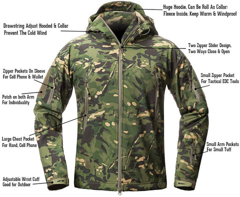 edc onsale army camouflage men jacket coat military tactical jacket